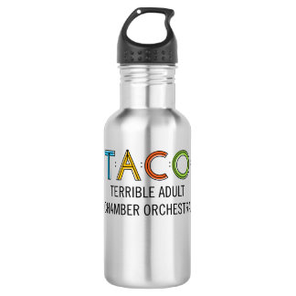 TACO Water Bottle (18 oz), Stainless Steel