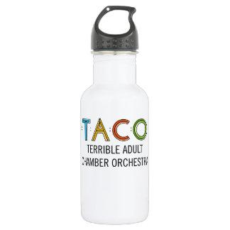 TACO Water Bottle (18 oz), White