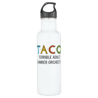 TACO Water Bottle (24 oz), White