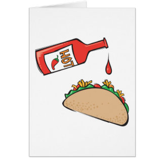 taco with hot sauce card