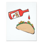 taco with hot sauce custom announcements