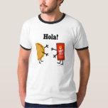 ¡Taco y salsa caliente - Hola! Playera