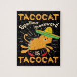 Tacocat Graphic Cinco de Mayo Cat Taco Jigsaw Puzzle