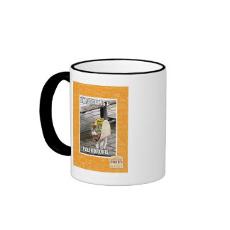 TACOCAT IS A PALINDROME RINGER COFFEE MUG