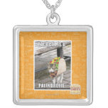 TACOCAT IS A PALINDROME SILVER PLATED NECKLACE