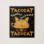 Tacocat Spelled Backwards Cinco de Mayo Taco Jigsaw Puzzle