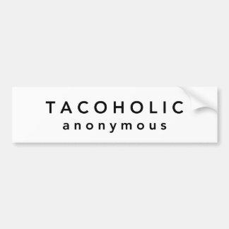 TACOHOLIC anónimo Pegatina Para Auto