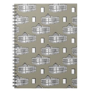 Tacoma Public Library Journal in Taupe Spiral Note Books