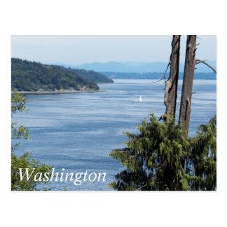 Tacoma Puget Sound Travel Photo Postcard