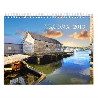 Tacoma, WA. Calendario 2013. de la ciudad