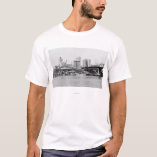 Tacoma, WA - Skyline View of Downtown T-Shirt