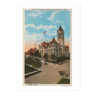 Tacoma, WA - View of Pierce County Court House Postcard