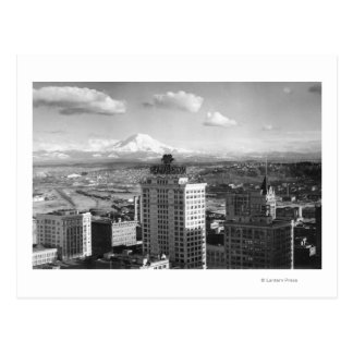 Tacoma WA View of Rainier from Medical Arts Postcard