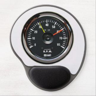 Tacómetro auto análogo redondo Mousepad del vintag Alfombrilla De Ratón Con Gel