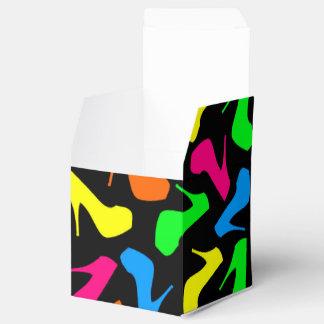 Tacón alto de neón femenino brillante del estilete cajas para regalos de boda