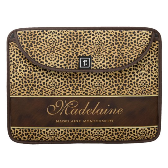 Tacón alto e impresión salvaje del guepardo del fundas para macbook pro