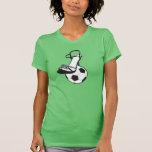 Tacones altos del fútbol camisetas