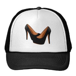 Tacones altos negros gorra