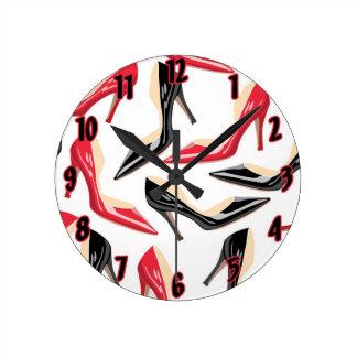 Tacones altos para mujer Stilletto Stileto de los Reloj Redondo Mediano