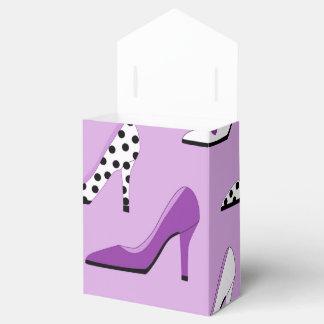 Tacones altos púrpuras de lujo caja para regalos