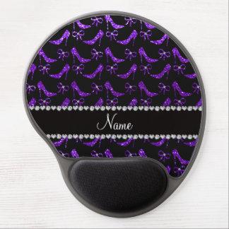 Tacones altos púrpuras personalizados del brillo d alfombrilla de ratón con gel