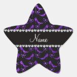 Tacones altos púrpuras personalizados del brillo colcomanias forma de estrellas