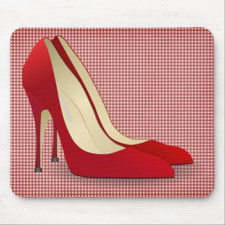tacones altos rojos alfombrilla de ratones