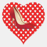 tacones altos rojos calcomanías corazones