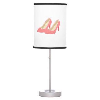 Tacones altos rosados de los años 50 retros lámpara de mesa