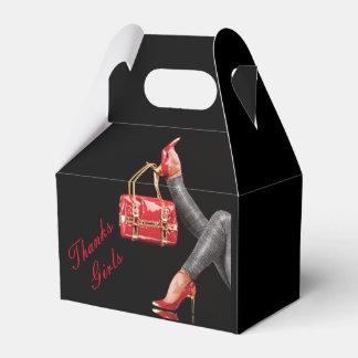 Tacones de aguja y bolso - caja del favor del caja para regalos de fiestas