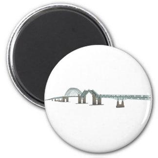 Tacony Palmyra Bridge: 3D Model: 2 Inch Round Magnet