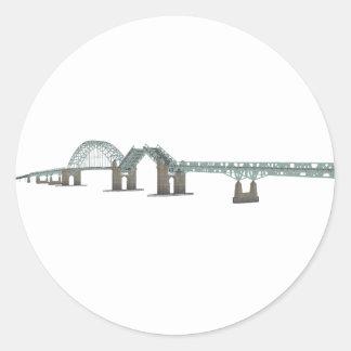 Tacony Palmyra Bridge: 3D Model: Classic Round Sticker