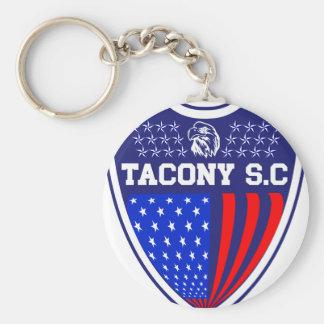 Tacony Soccer Basic Round Button Keychain