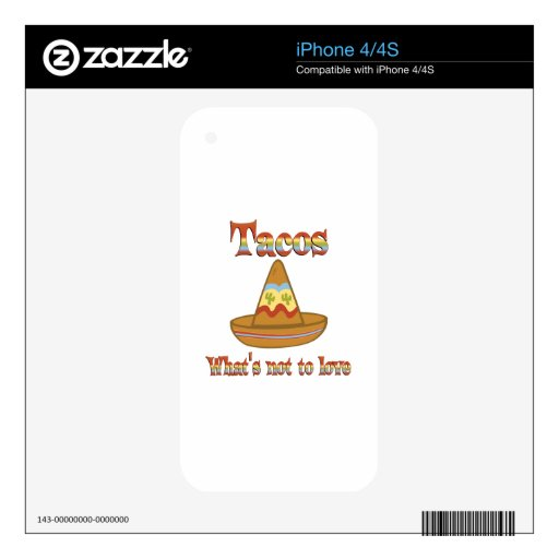 Tacos a amar iPhone 4S skins