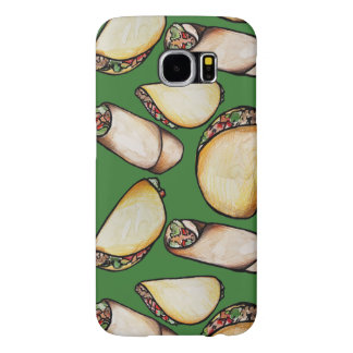 Tacos and Burritos pattern Samsung Galaxy S6 Case