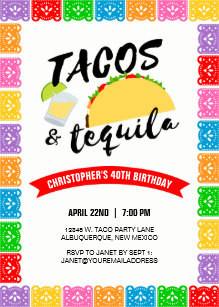 tequila birthday invitations zazzle