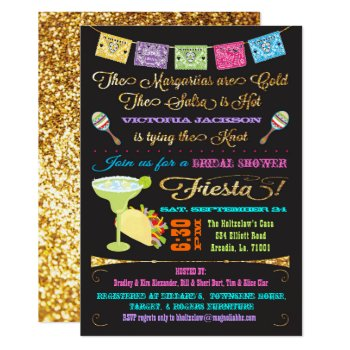 Tacos And Tequila Bridal Shower Mexican Fiesta Card by McBooboo at Zazzle