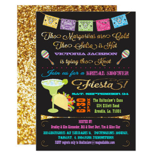 Tacos and Tequila Bridal Shower Mexican Fiesta Invitation