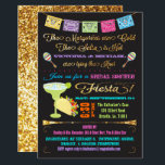 """Tacos and Tequila Couples Bridal Shower Fiesta Card<br><div class=""""desc"""">The margaritas are cold and the salsa is hot! Fun and glittery Mexican FIesta Bridal Shower invitations for the couple. The word &quot;bridal shower&quot; can be changed to fit your event. Features a big margarita and taco, maracas and banner with fauz gold glitter accents and back. Need help, just email...</div>"""