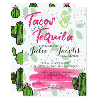 Tacos and Tequila Engagement Party Invitation