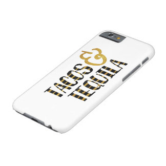 Tacos and Tequila Funny Saying Barely There iPhone 6 Case