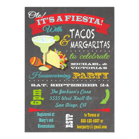 tacos and tequila housewarming party invitation zazzle com