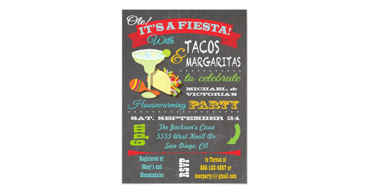 Tacos And Tequila Invitations & Announcements | Zazzle