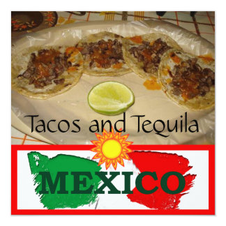 Tacos and Tequila Mexico Card