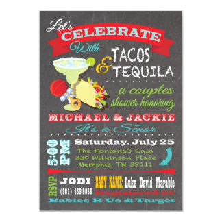 Tacos and Tequilla couples baby shower for Jodi Card
