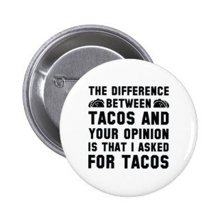 Tacos And Your Opinion Pinback Button