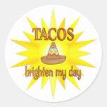 Tacos Brighten Classic Round Sticker