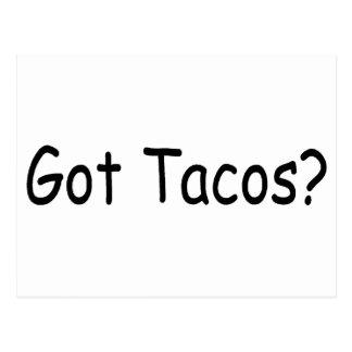 Tacos conseguido postales