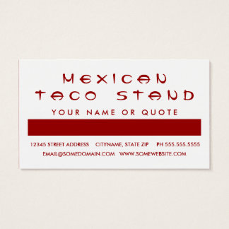 TACOS customer appreciation (mod squares) Business Card