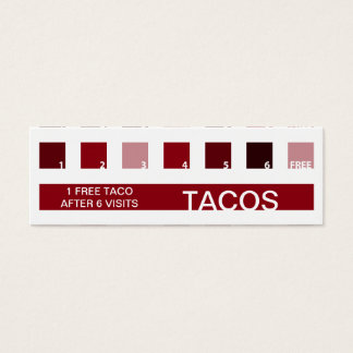 TACOS customer appreciation (mod squares) Mini Business Card